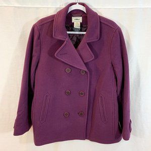 LL Bean Bellandi Peacoat Jacket Quilted Lined